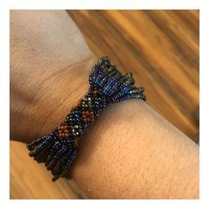 Vintage Multi-Strand Seed Bead Bracelet